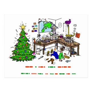 Ham Radio Christmas Morse Code Operator Postcard
