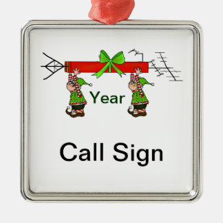 Ham Radio Christmas Ornament with Elves