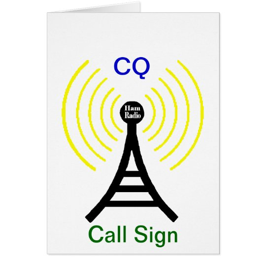 Ham Radio CQ Transmitter Card