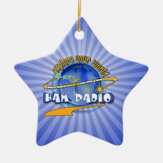 HAM RADIO - EXPLORE YOUR WORLD CERAMIC ORNAMENT