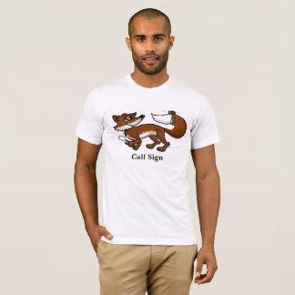 Ham Radio Fox Hunting Fox With Call Sign T-Shirt