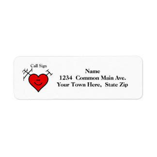 Ham Radio Heart & Antenna Address Labels