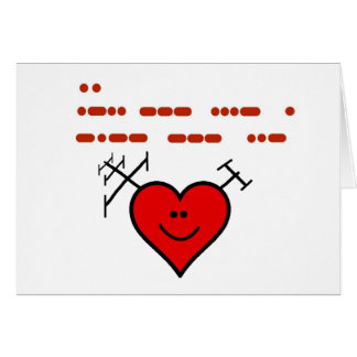 "Ham Radio ""I Love You"" Greeting Card"