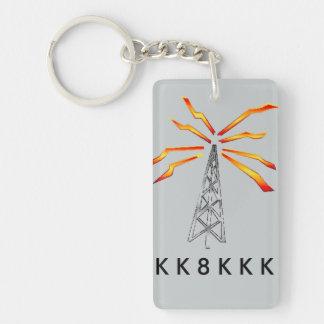 Ham radio keychain