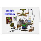 "Ham Radio ""Man Cave"" Birthday Card  Customize It!"