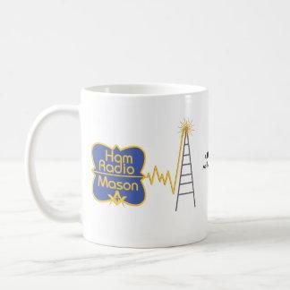 Ham Radio Mason, Add your name, your call sign Coffee Mug