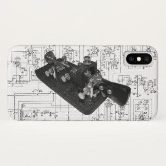 Ham Radio Morse Code Semi-Automatic Key iPhone X Case