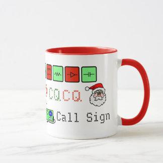 Ham Radio Multi-Graphical Christmas Mug with Call