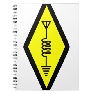 Ham Radio Symbol Spiral Notebook