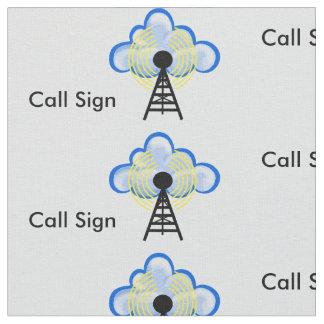 Ham Radio Transmitter, Cloud & Call Sign Fabric