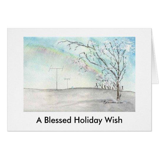 Ham Radio Winter Rainbow Christmas Card