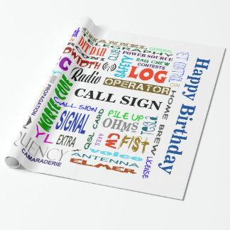 Ham Radio Word Collage Gift Wrap  Customize It!