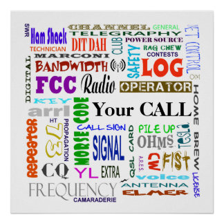 Ham Radio Word Collage  Poster  Customize It!