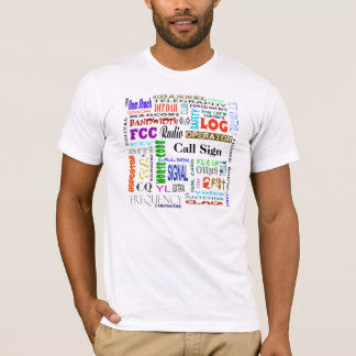 Ham Radio Word Collage T-Shirt  Customize It!