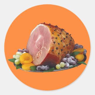 Ham Round Sticker