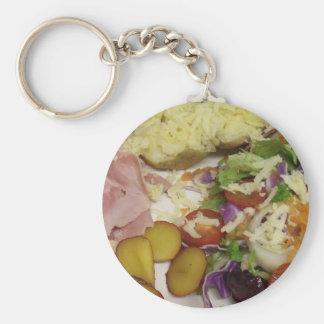 Ham Salad And Dressing Basic Round Button Keychain