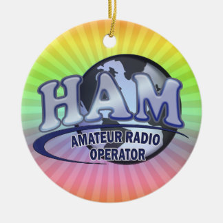 HAM WORLD LOGO Amateur Radio Ceramic Ornament