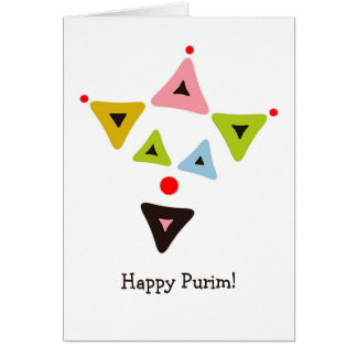 Hamantaschen Clown Purim Card