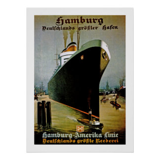 Hamburg-Amerika Line Poster