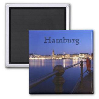 Hamburg Binnenalster blue hour magnet