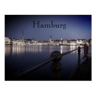 Hamburg Binnenalster postcard