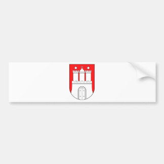 Hamburg coats of arms bumper sticker