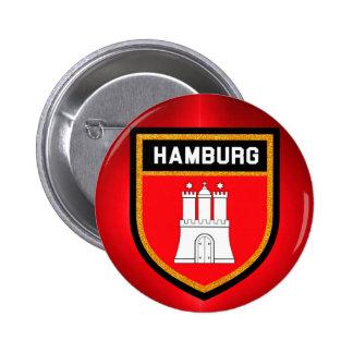 Hamburg Flag 2 Inch Round Button