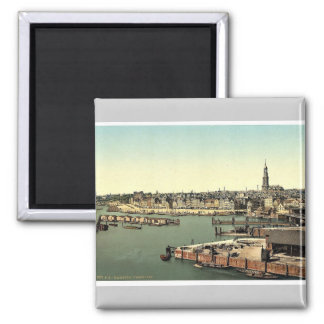 Hamburg from the Watch Tower, Germany classic Phot Magnet