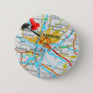 Hamburg, Germany 2 Inch Round Button