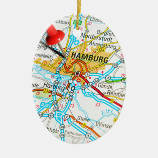 Hamburg, Germany Ceramic Ornament