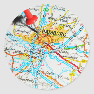 Hamburg, Germany Classic Round Sticker