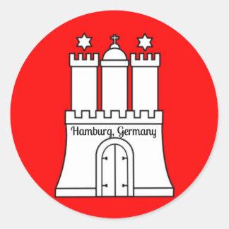 Hamburg, Germany flag Classic Round Sticker