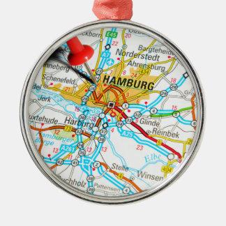 Hamburg, Germany Metal Ornament