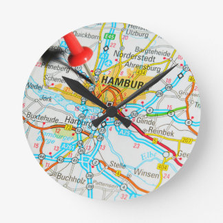 Hamburg, Germany Round Clock