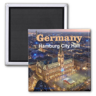 Hamburg Germany Travel Photo Souvenir Magnets