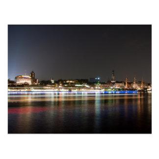 Hamburg Harbor at Night Postcard