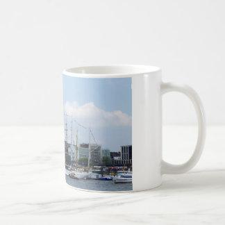 Hamburg Harbor Hafen Michel Deutschland Schiffe Coffee Mug