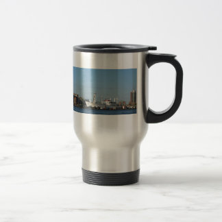 Hamburg Harbour Panorama Travel Mug