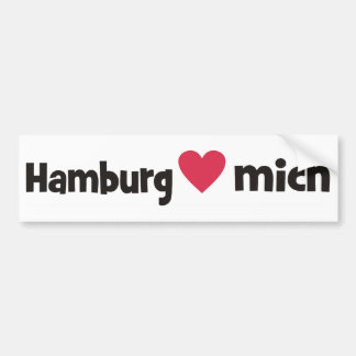 Hamburg loves me bumper sticker