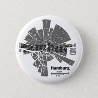Hamburg Map 2 Inch Round Button