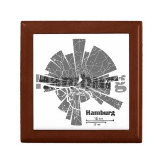 Hamburg Map Jewelry Box