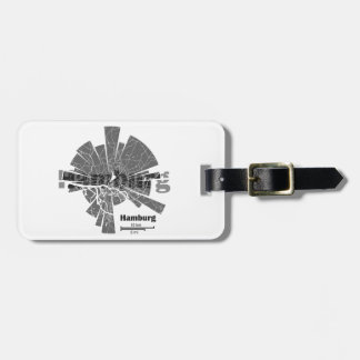 Hamburg Map Luggage Tag