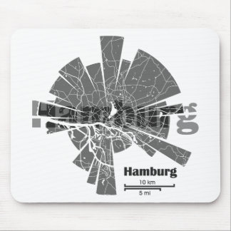 Hamburg Map Mouse Pad