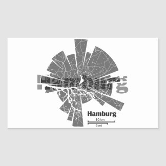 Hamburg Map Sticker