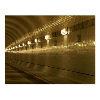 Hamburg of old Elbe tunnels Postcard