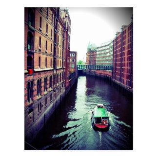 Hamburg or Venice? Postcard