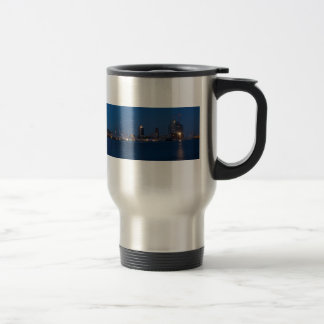 Hamburg port panorama travel mug