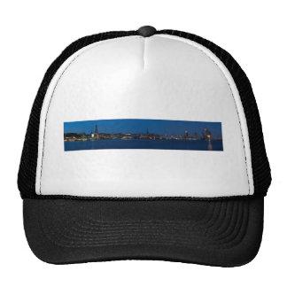 Hamburg port panorama trucker hat