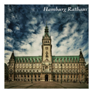 Hamburg Rathaus, Germany Poster