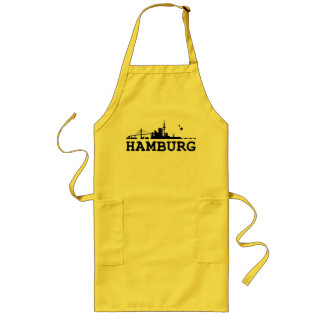 Hamburg skyline cook apron